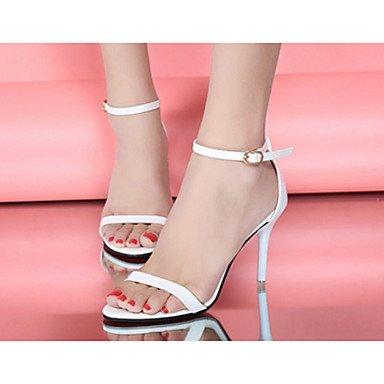 LFNLYX Donna Sandali Primavera Estate altri PU Casual Stiletto Heel altri Bianco Nero Argento Oro Gold