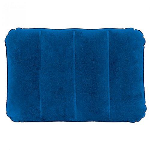 Preisvergleich Produktbild Jilong I-Beam Pillow 48x34x12 cm Reisekissen Luftkissen Kopfkissen aufblasbares Kissen mit velourbeschichtetem Aussenbezug