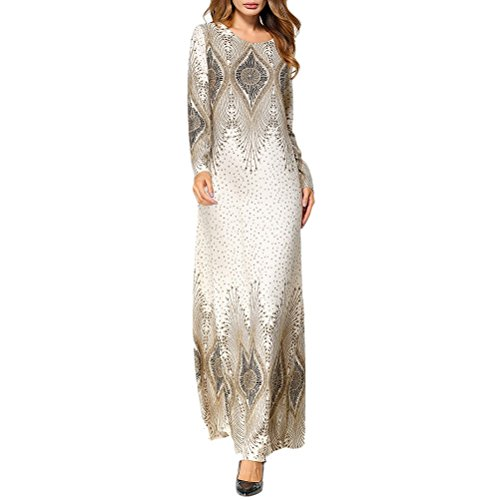 7ff41fbb61e8 Zhhlinyuan Vestido de Moda Muslims Womens Clothes Printed Hooded Maix Dress  Moroccan Kaftan Caftan Abaya Jalabiyas