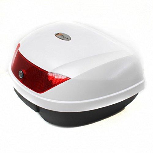 Wohnstyle24 Topcase Koffer 055 weiß Hartschalenkoffer Aufbewahrung Gepäck Motorradkoffer Motorradtasche Top Case