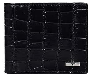 Urban Forest Drogon Black Croco Print RFID Blocking Leather Wallet for Men