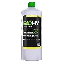 BIOHY Teppichshampoo Konzentrat 1 Liter Flasche | Teppichreiniger ideal zur Entfernung von hartnäckigen Flecken | SPEZIELL FÜR WASCHSAUGER ENTWICKELT