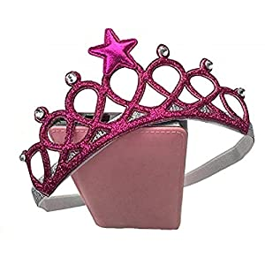 Ziory Rose Red Color Headbands with Tiaras Crowns Princess Head Band Photo Props Crown Headband For Baby Boys and Baby Girls. Best Online Shopping Store
