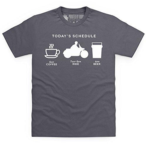 Today's Riding Schedule T-Shirt, Herren Anthrazit