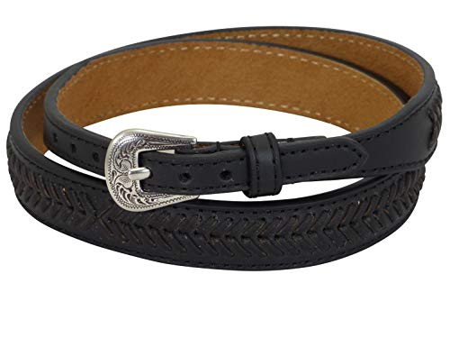 MF Western Hutband Leder Laced Black
