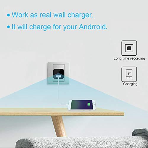 Telecamera Nascosta, UYIKOO 1080P Mini Telecamera Spia USB Caricatore da Parete Adattatore per Videocamera Fotocamera portatile con Rilevazione di Movimento, Fotocamera da 32 GB di Memoria Incorporata - 3