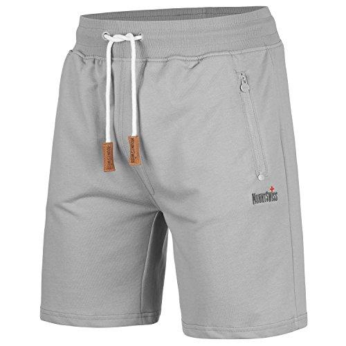 Mount Swiss Herren MS Short, Liam, Sleet, Gr. XL/Kurze Hose/Jogginghose / Sweatpants aus 100% Baumwolle