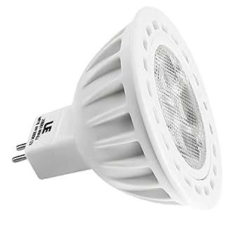 LE Ampoule LED 4W GU5.3 MR16, Equivalente à une Ampoule Halogène de 50W, 12 VCA/CC, Design Avant-gardiste, 310 lm, Blanc Chaud