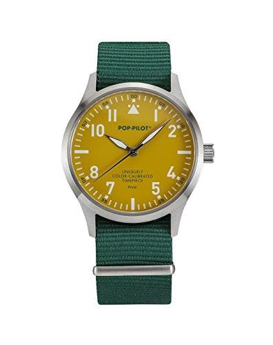 Pop-Pilot Unisex-Armbanduhr PHW Analog Quarz Nylon P4260362631038