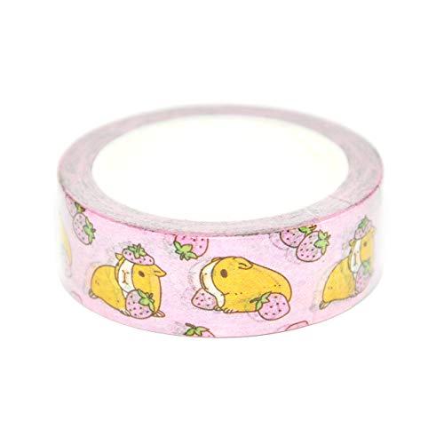 Washi-Tape für Meerschweinchen und Erdbeeren