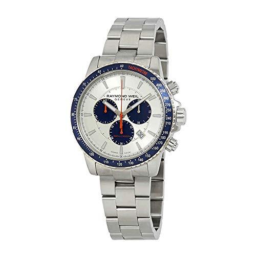 Raymond Weil orologio al quarzo, argento, 43mm, cronografo, 8570-st3–65501