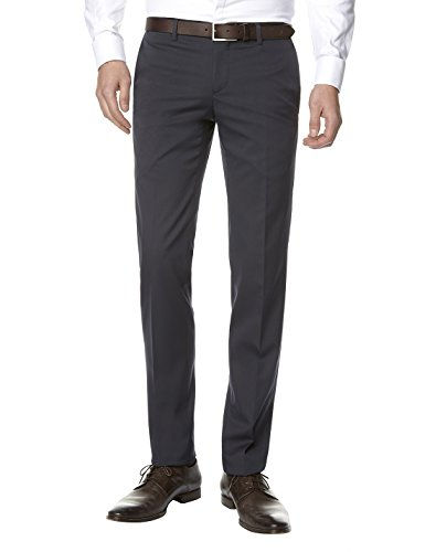 Celio - Pantalon de Costume - Uni - Homme - Bleu (Marine) - FR: 36