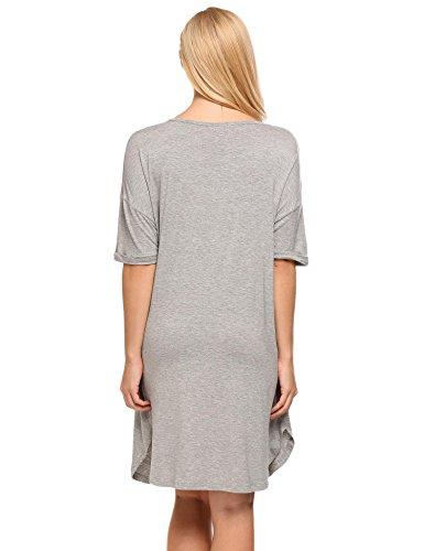 Ekouaer Damen Nachthemd Grau
