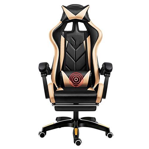 DSFSGFG Komfortable Rückenlehne Drehbarer ergonomischer Computer-Stuhl Professioneller Online-Gaming-Stuhl Network Anchor Chair