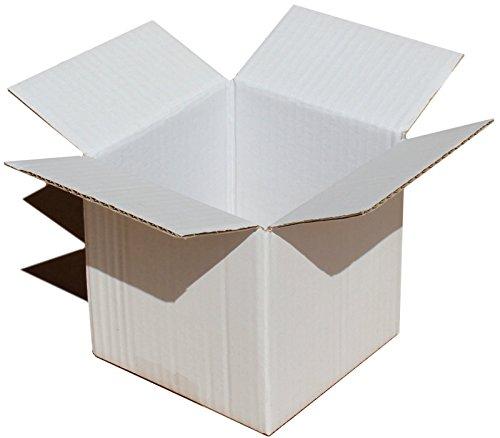 MEG4TEC Weiße Versandboxen, 13cm x 13cm x 13cm cm, für Kuchen, Party-geschenk, Kaffee-set, Tee-/porzellan-set, als Verpackung weiß - Weißem Porzellan Aus Tee-set