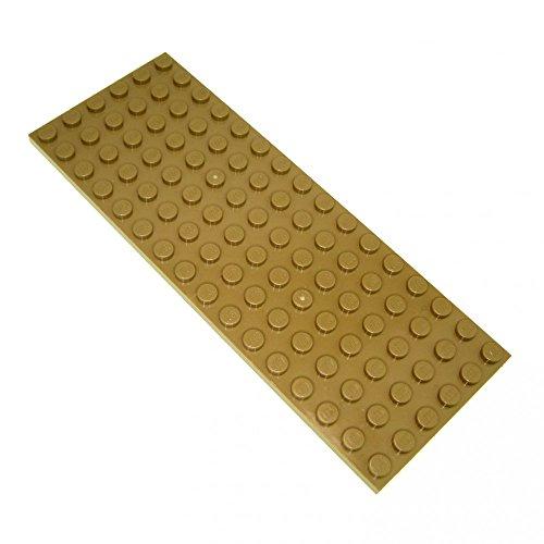 Preisvergleich Produktbild 1 x Lego Basic Grund Platte dunkel beige tan Star Wars Castel 16 x 6 Noppen 3027