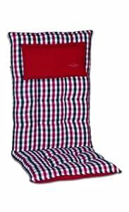 Sesselauflage, Stuhlauflage, Polster, Auflage, Sitzkissen, Kissen 'Inco' rot