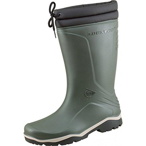 Dunlop Blizzard Inverno stivali di gomma unisex con fodera in pelliccia sintetica Verde