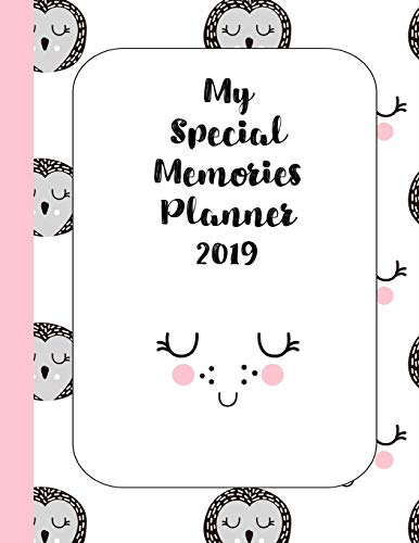 My Special memories planner: The ultimate yearly scrapbook planner for keeping all your child's memories together - Scandinavian Owl and smile face -