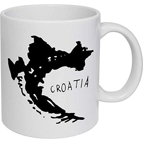 Azeeda 320ml 'Kroatien' Kaffeetasse / Becher (MG00009039)