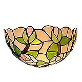 WXAN Tiffany Stil Wandleuchte Nostalgische Antike Halbrunde Lampenschirm Farbe Wasserglas Glas Farbe Hardware Wohnzimmer Esszimmer Hotel Villa Schlafzimmer E27lichtquelle Led