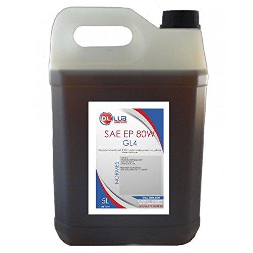 DLLUB - HUILE BOITE SAE 80W GL4 EP 80W - 5 litres
