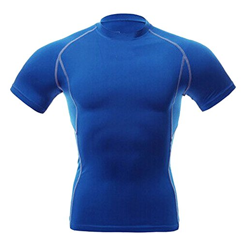 Plissee Short Sleeve Tee (Allouli Men's Sports Breathable Quick Dry Short Sleeve T-Shirts Running Training Tee Tops)