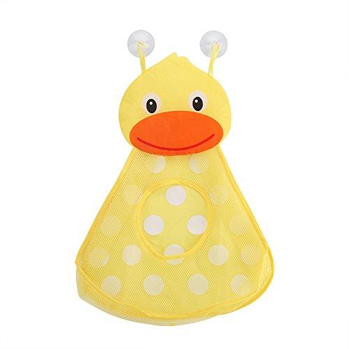 Zerodis Baby Dusche Organizer, 36x 50Badezimmer Badewanne Storage Mesh Tasche mit 2strapazierfähigen Saugnäpfe, Kinder Badespielzeug Netzkorb Little Duck -