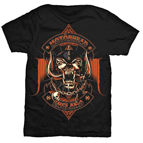 Motorhead Orange Ace Camiseta Manga Corta, Negro, S para Hombre