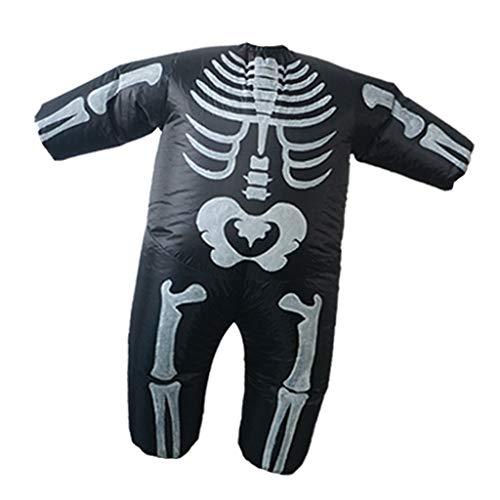 Sharplace Skelett Aufblasbares Kostüm Erwachsene Kostüm Fatsuit Fett Anzug für Party Cosplay Fasching und Karneval (Fett Skelett Kostüm)