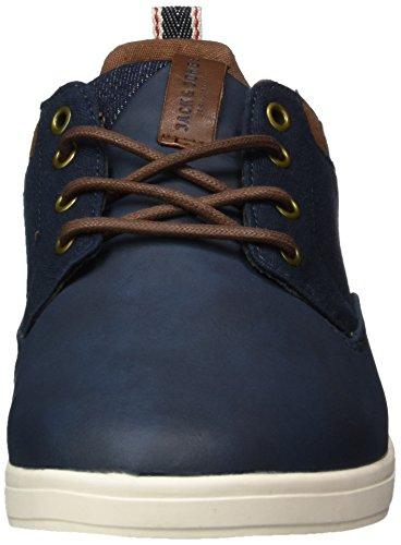Jack & Jones Jfwvaspa Herringbone Textile Mix Navy Bl, Sneakers Basses Homme Bleu (Navy Blazer)