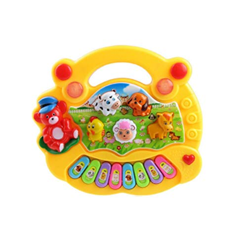 Kinderspielzeug Electronic Organ Farm Musikinstrument Baby Enlightenment gelb Farm Music Box