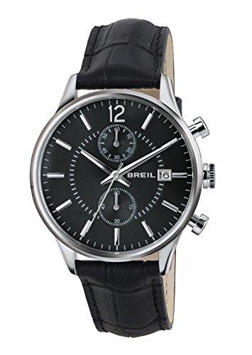 Breil orologio cronografo quarzo uomo con cinturino in pelle tw1572