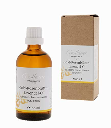 Gold-Rose-Lavendel-Öl von Jungebad, 100ml, Massageöl und Badeöl