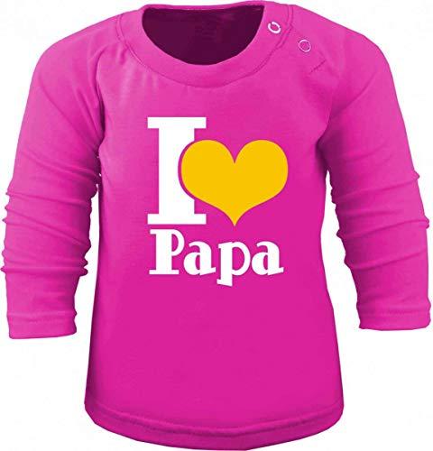 KLEINER FRATZ T-Shirt à Manches Longues pour Enfant I Love Papa/Taille 60-152 - Rose - 3 Ans