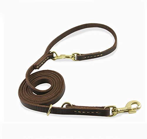 führen Multifunktion Hundeleine aus Leder Hundekette aus Leder dauerhaft Leinen Seil Laufen ()