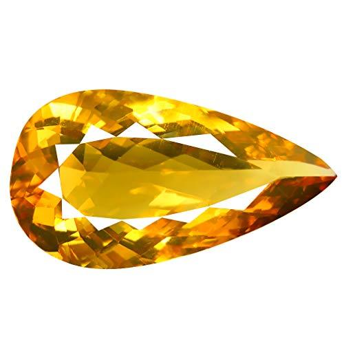 15,91 ct AAA + Birnenform (26 x 14 mm) Brazilianischer Goldgelber Helidodor Beryl (gelber Aquamarin) Edelstein