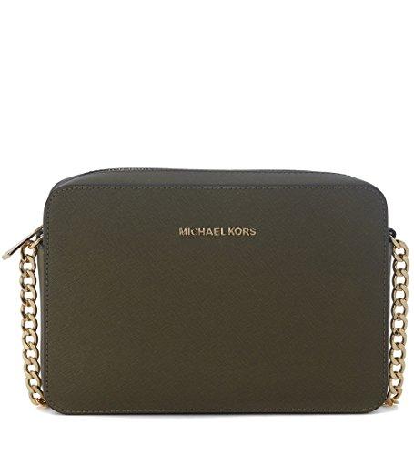 Michael Kors Crossbodies, Women's Shoulder Bag, Grün (Olive), 2x23x10 cm (B x...