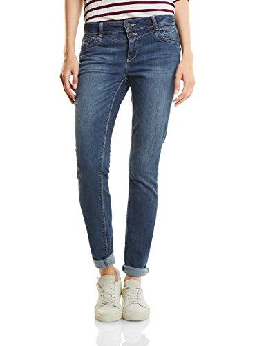 Basic Wash Jeans (Street One Damen Jane Straight Jeans, midblue basic wash, W25/L32)