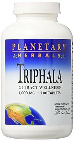 Planetary Herbals Triphala 1,000mg (180 tablets)