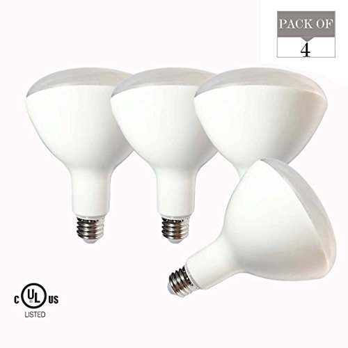 4er Pack LED Leuchtmittel br40,15W (entspricht 120W Glühbirne), E27Sockel, 90V-265V, 2700K (Soft weiß Glow), 1500lm, cri90+, ul-listed und Energy Star Genehmigt Led-br40
