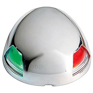 wellenshop LED Zweifarbenlaterne Positionslicht Edelstahl für Boot