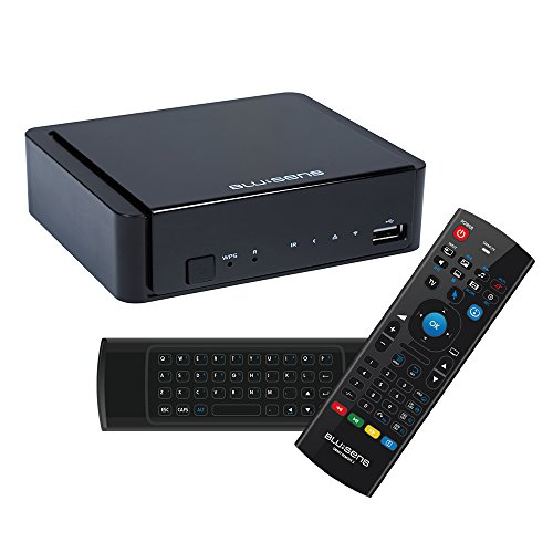 Blusens WebTv W + Smart TV - Pack de receptor y mando inalámbrico, color negro