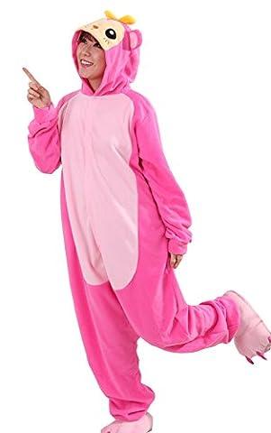 Honeystore Unisex Erwachsene Animal Anime Tier Weihnachten Halloween Fasching Carnival Rosa Affe Pajamas Pyjamas Schlafanzug Kostüme Jumpsuit Kleidung (Selbst Gemachte Anime-kostüme)