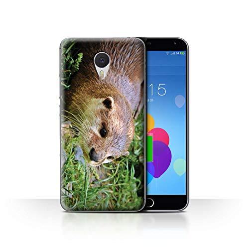 eSwish Hülle/Case für Meizu M3 Note/Entzückender Otter Zoo Muster/Süß Baby Tier Fotos Kollektion