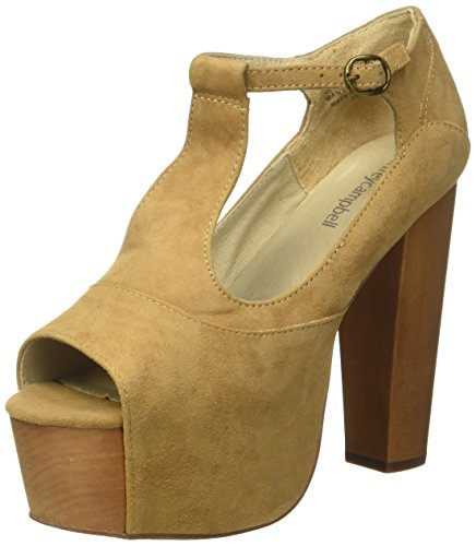Jeffrey Campbell Damen Foxy Suede Pumps Cammello