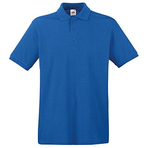Fruit of the Loom Herren Modern T-Shirt Gr. Medium, königsblau (Pocket Knit Striped Pique Shirt)