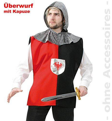 "Herren-Kostüm ""RITTER"" 1-tlg. Oberteil mit Kapuze in Gr. L+XXL (Large)"