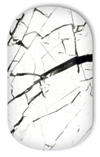 Miss Sophie's weiß-marmor Nagel-Folien White Marble: Nagel-Design / Nailart/Aufkleber: 20 Nail...