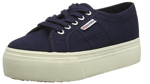 Superga Damen 2790acotw Linea Up and Down Sneaker, Blau (933), 37.5 EU Low Heel Damen Schuhe